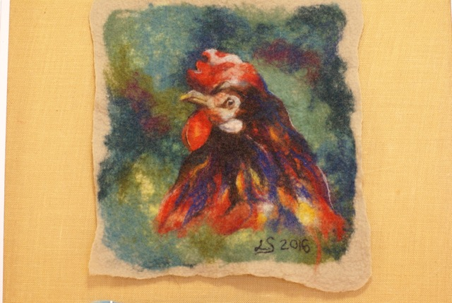 """From the workshop """"Watercolor painting in wool"""" with Renata Kraus"""